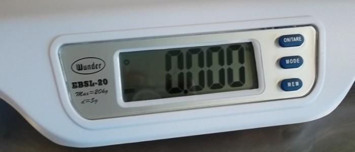 Bilancia pesa neonato da kg20